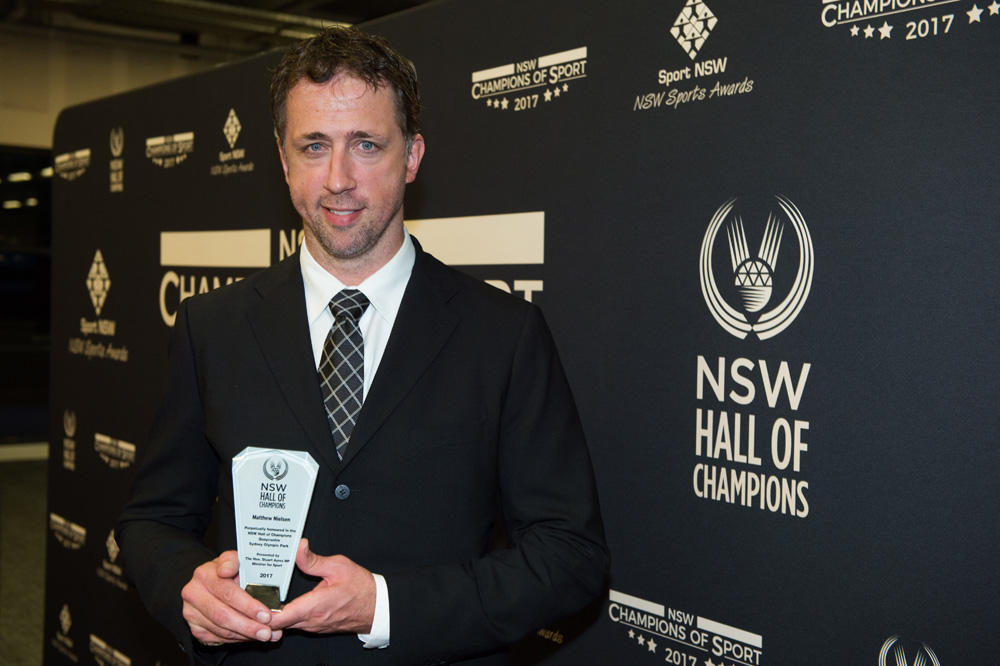Matthew Nielsen inducted into the NSW Hall of Champions